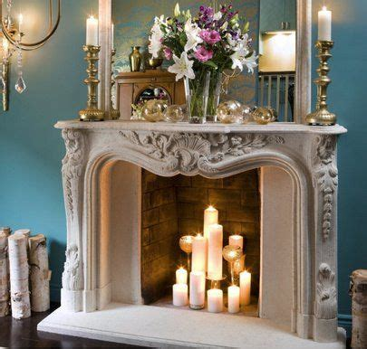 Grouped candles in a fireplace | DREAM home. in 2019 ...