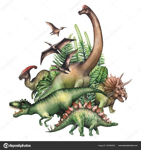 Grupo acuarela chile | Grupo de dinosaurios acuarela ...