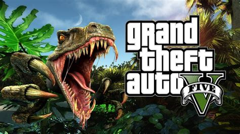 GTA 5   ENCUENTRAN DINOSAURIO   YouTube