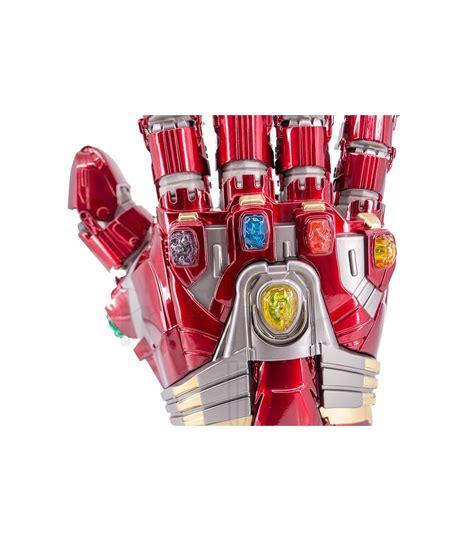 Guantelete del Infinito de Iron Man con gemas. Guanteletes