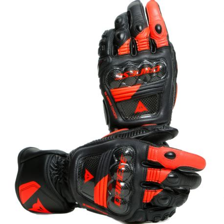 GUANTES DAINESE DRUID 3 NEGRO/ROJO FLUOR   Dainese Madrid ...