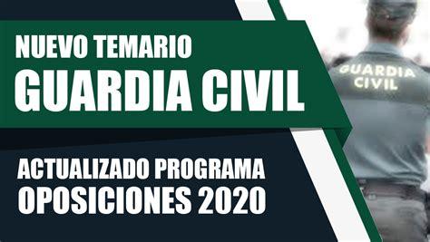 GUARDIA CIVIL. TEMARIO ACTUALIZADO PARA OPOSICIÓN 2020 ...