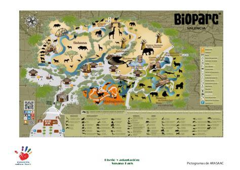 Guía del Bioparc, Valencia, con apoyos visuales.