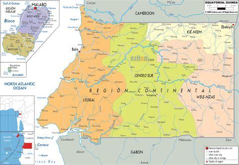 GUINEA ECUATORIAL   MAPAS GEOGRÁFICOS DE GUINEA ECUATORIAL ...