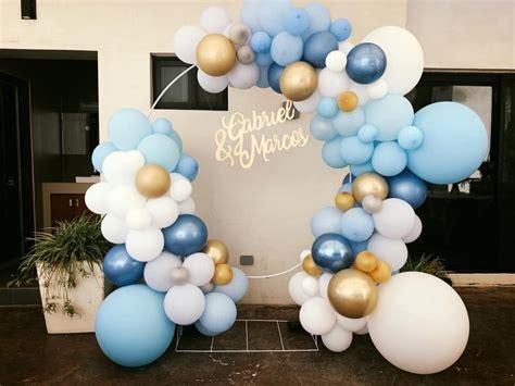 Guirnalda de globos azules | Globos, Decoraciones de ...