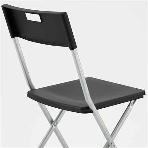 GUNDE Folding chair, black   IKEA