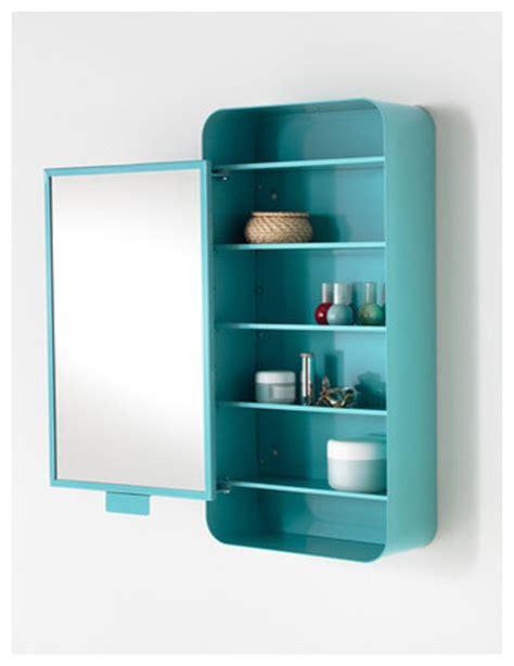 Gunnern Mirror Cabinet with 1 Door, Blue   Contemporary ...
