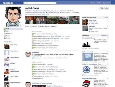 gurileki: facebook profile layout