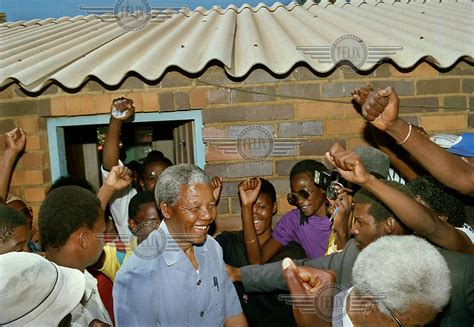 GW425, South Africa, East Rand, 1991: Nelson Mandela in ...