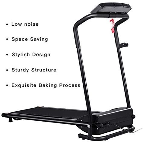 GYMAX Folding Electric Portable Treadmill Low Noise ...