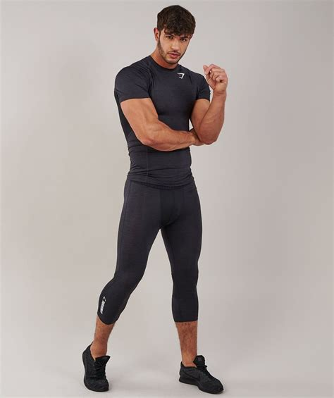Gymshark Element Baselayer 3/4 Legging   Black Marl 4 in ...