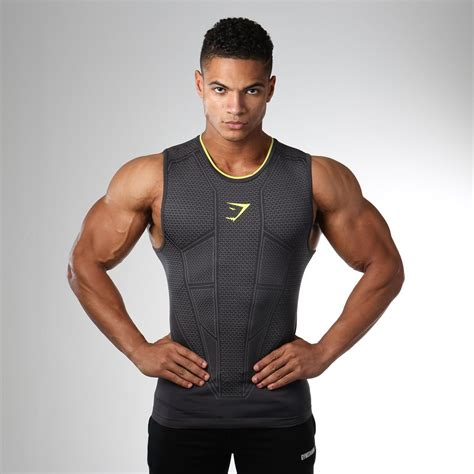 Gymshark Onyx Seamless Tank   Charcoal | Gym outfit men ...
