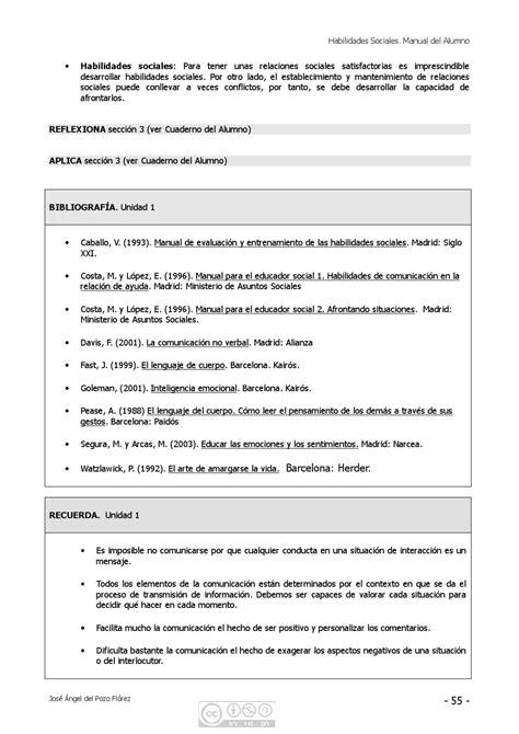 Habilidades Sociales. Manual de Alumno by JOSE ANGEL DEL ...