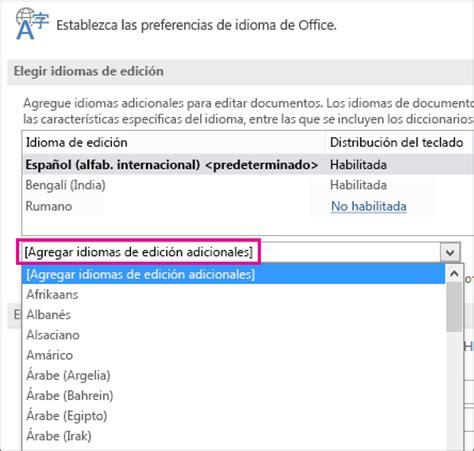 Habilitar distribuciones del teclado para distintos ...