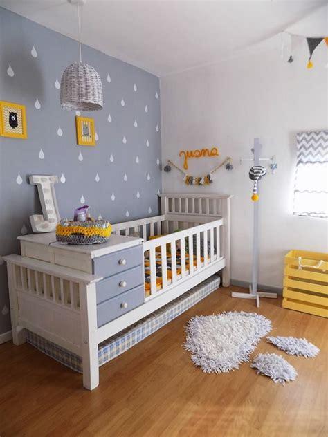 Habitacion bebe, recien nacido, gris, amarillo y blanco ...