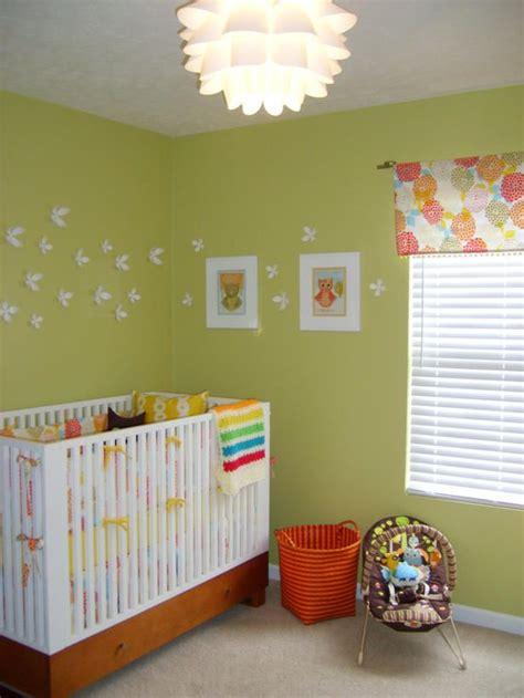 Habitación de bebé | habitacion verde y naranja ...
