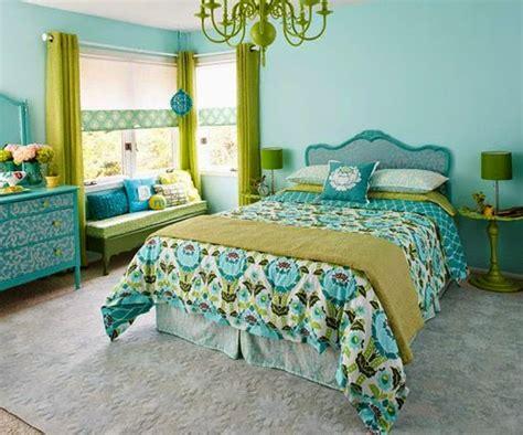 Habitación en verde y azul   Ideas para decorar dormitorios