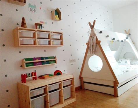 Habitacion infantil cama tipi y trofast ikea | Habitación ...