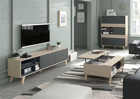Habitdesign 0Z6635R   Mueble de tv, acabado color Roble y ...