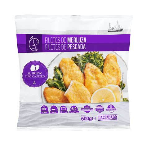 Hacendado Merluza congelada filetes al huevo Paquete de 600 g