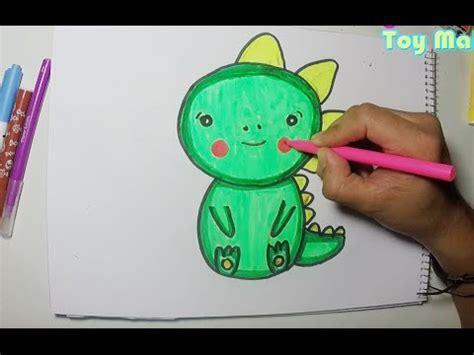 Haciendo dibujo de dinosaurio bebé   YouTube