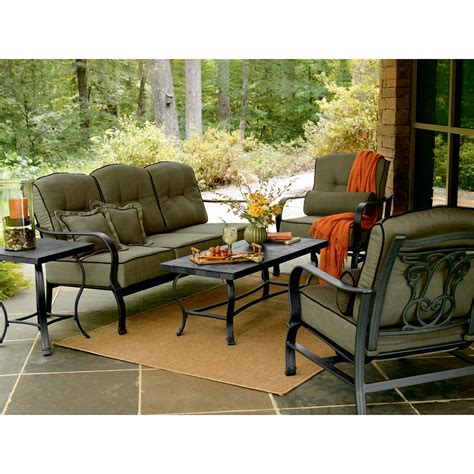 Hadley 5 Pc. Patio Seating Set: Live Outdoors with Cool ...