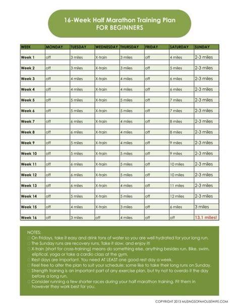 Half Marathon Training Plan *with Printable* | Half ...