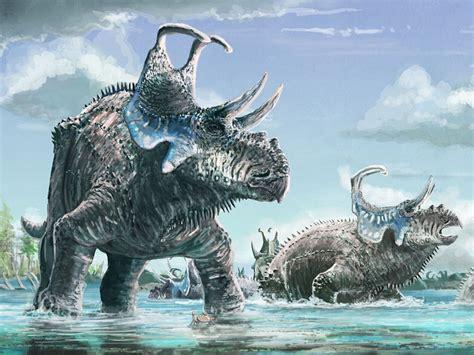 Hallan un nuevo dinosaurio con extraños cuernos