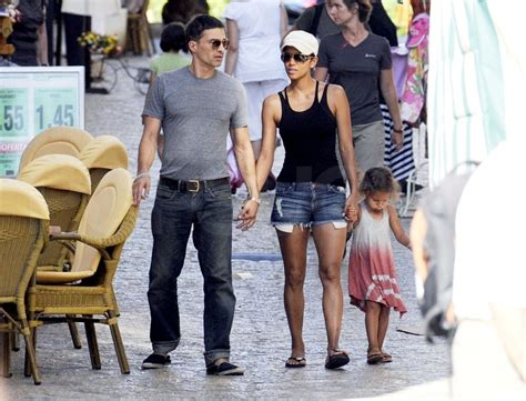 Halle Berry & Nahla With Olivier Martinez in Spain ...