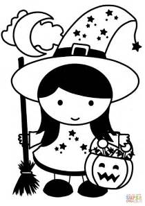 Halloween Girl coloring page   Free Printable Coloring Pages