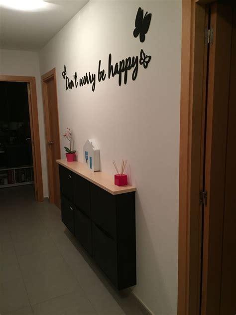 Hallway   Recibidor pasillo   Ikea Trones + Ekby Hemnes ...