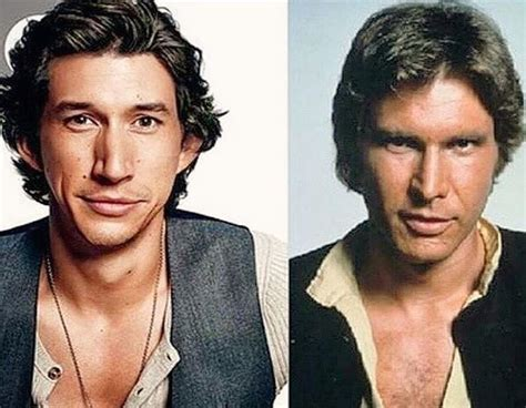 Han Solo and Kylo Ren, father son resemblances | Star wars ...