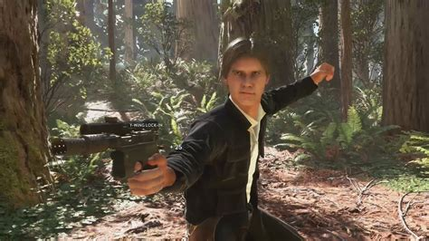 HAN SOLO GAMEPLAY   Star Wars Battlefront Han Solo ...