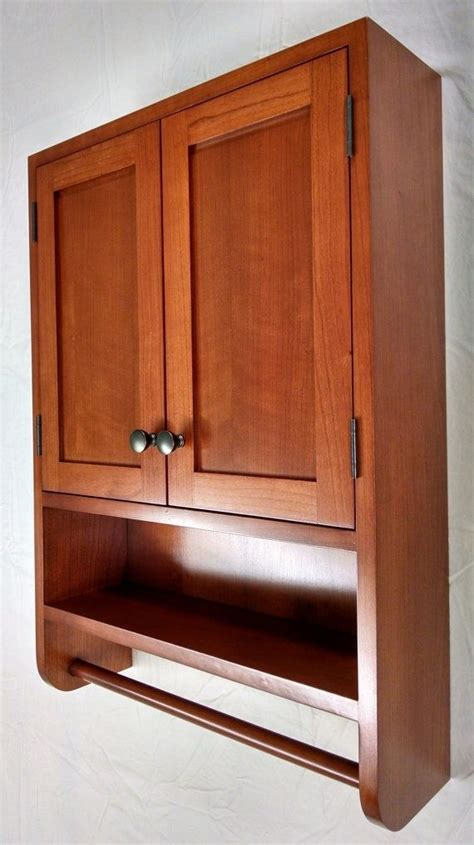 Hand Crafted Cherry Hanging Bathroom Cabinet by WoodLands ...