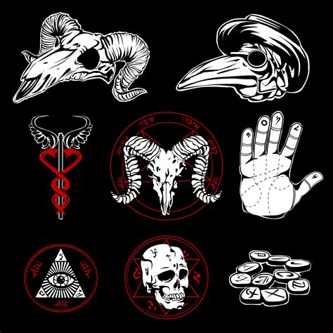Hand Drawn Esoteric Symbols And Occult Attributes ...