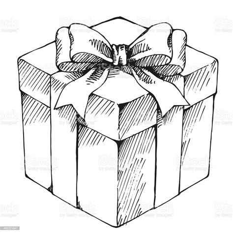 Hand Drawn Gift Box Stock Illustration   Download Image ...