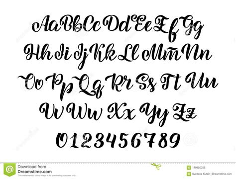 Hand Drawn Typeface. Brush Painted Letters. Handwritten ...
