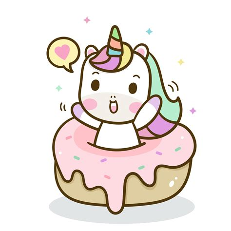 Hand drawn unicorn with sweet cake   Download Free Vectors ...