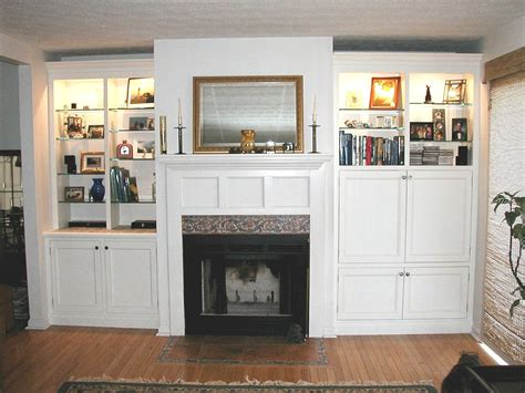 Handmade Custom Fireplace Cabinets by Dennen Design ...