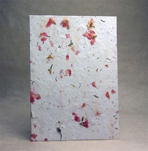 Handmade Seed Paper with Pink Larkspur petals and wild flower