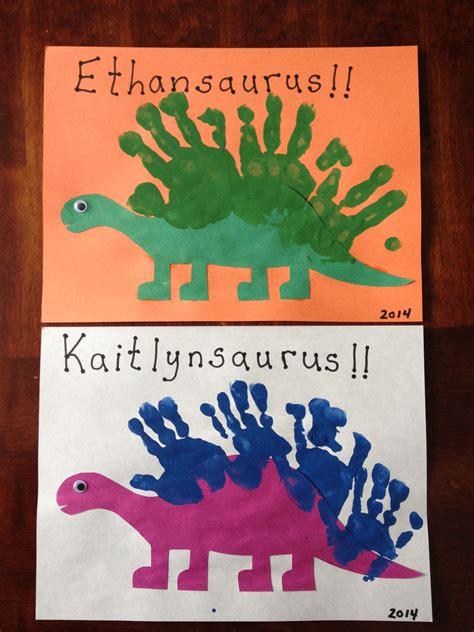 Handprint Dinosaurs … | Daycare crafts, Dinosaur ...