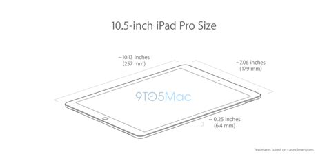 Hands on with a 10.5 inch iPad Pro case and dimension ...