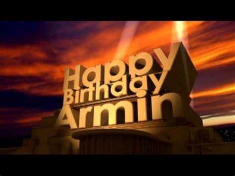 Happy Birthday Armin   YouTube