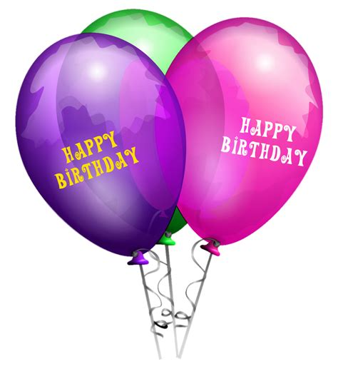 Happy Birthday Balloons PNG Transparent Images | PNG All