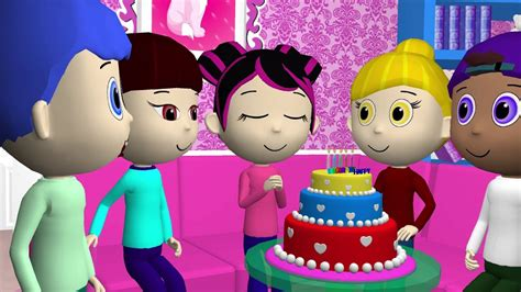 Happy Birthday Funny 3D Animation   Songs for Kids [vocal ...