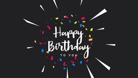 Happy Birthday Greeting Card Animation. Stock Footage ...