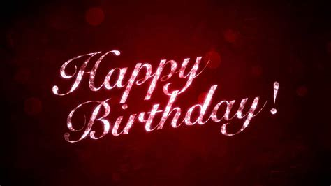 Happy Birthday on Red   HD Motion Graphics Background Loop ...