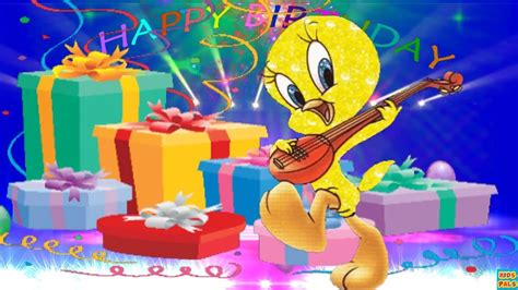 Happy Birthday Song for kids with Tweety Bird   YouTube