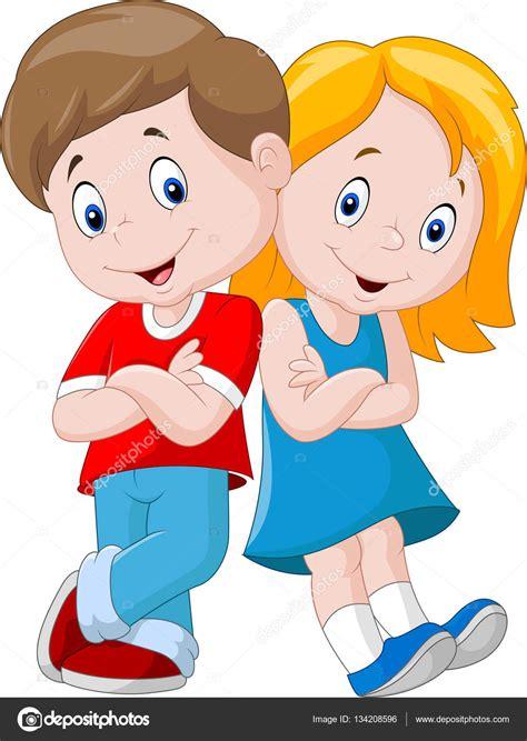Happy children cartoon isolated on white background ...