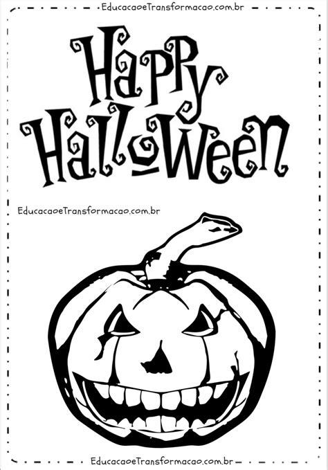 Happy Halloween com Abobora   Moldes de Letras Dia das ...